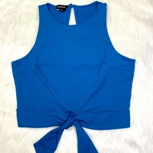 NWT Bebe Front Tie Blouse Top Sleeveless S…